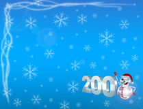 2008&snow Royalty Free Stock Photography