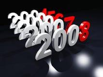 2008 som räknar till vektor illustrationer