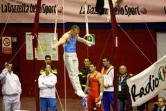 2008 storslagna gymnastiska milan prix Arkivbilder
