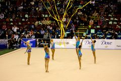 2008 storslagna gymnastiska milan prix Royaltyfria Foton