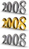 2008 symbol of new year. (image can be used for printing or web Stock Illustration