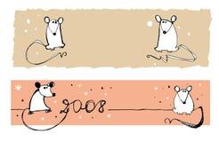 2008 sztandarów szczurów Obraz Royalty Free