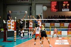 2008 tout le volleyball de décharge d'étoile de jeu Images libres de droits