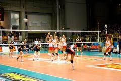 2008 tout le volleyball de décharge d'étoile de jeu Photographie stock libre de droits