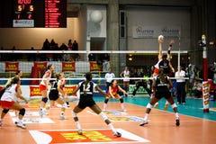 2008 tout le volleyball de décharge d'étoile de jeu Photo libre de droits