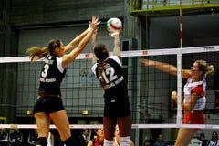 2008 tout le volleyball de décharge d'étoile de jeu Images stock