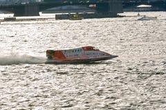 2008 U.I.M. F1 Powerboat World Championship. 6th Grand Prix of Russia. St. Petersburg, Neva River, 14th of June, 2008 Stock Photos