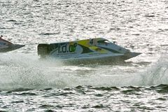 2008 U.I.M. F1 Powerboat World Championship. 6th Grand Prix of Russia. St. Petersburg, Neva River, 14th of June, 2008 Royalty Free Stock Images