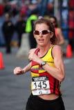 2008 US Women's Olympic Marathon Trials, Boston. Runner No. 145 - Lori Stich Zimmerman of Rochester Hills, MI Royalty Free Stock Photos