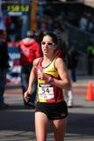 2008 US Women's Olympic Marathon Trials, Boston. Runner no. 54 - Dot McMahan of Rochester Hills, MI Royalty Free Stock Image