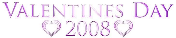 2008 valentines дня Стоковые Фотографии RF