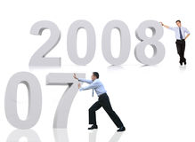2008 welcome good bye 2007 Stock Images