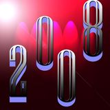 2008 year. Celebration and background design used photoshop working Stock Photos