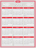 2008 Year vector calendar Stock Photography