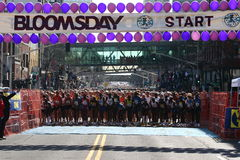 2008 zabawy bloomsday linia biegam zaczynać Fotografia Royalty Free
