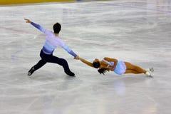 2009个冠军判断意大利整体滑冰 免版税库存照片