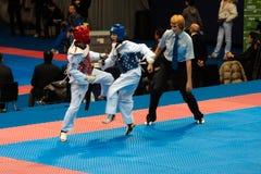 2009个冠军意大利语跆拳道 免版税库存图片