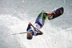 2009个杯子人putrajaya shortboard waterski世界 库存照片
