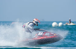 2009个杯子喷气机pattaya s国王滑雪世界 免版税库存图片