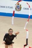 2009个杯子图体操pesaro节奏性世界 免版税库存照片