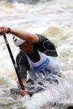 2009个独木舟杯子障碍滑雪水世界 免版税库存照片