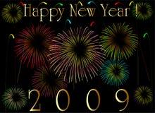 2009个看板卡新年度 免版税库存图片