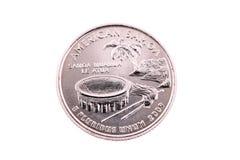 2009个美国硬币季度萨摩亚盯梢我们 库存照片