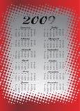 2009五颜六色的日历 免版税库存图片