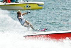 2009名杯子putrajaya障碍滑雪waterski妇女世界 库存照片