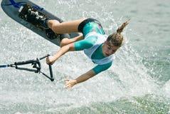 2009名杯子putrajaya shortboard waterski妇女世界 库存图片
