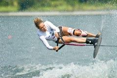2009名杯子putrajaya shortboard waterski妇女世界 库存照片