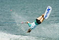 2009名杯子putrajaya shortboard waterski妇女世界 免版税库存照片