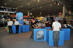 2009壁角gitex Intel 库存图片