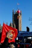 2009年伦敦行军可能抗议泰米尔语 库存照片
