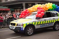 2009年救护车伦敦自豪感 免版税库存图片