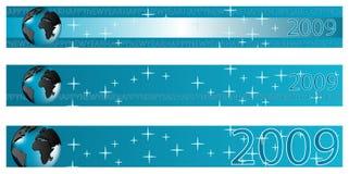 2009年横幅新年度 免版税库存照片