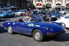 2009年汽车卡塔尼亚小山谷etna游行袭击 免版税库存图片