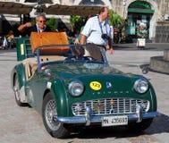 2009年汽车卡塔尼亚小山谷etna游行袭击 免版税图库摄影