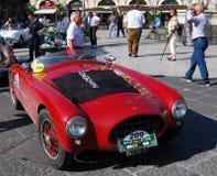 2009年汽车卡塔尼亚小山谷etna游行袭击 库存照片