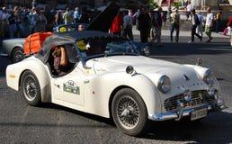 2009年汽车卡塔尼亚小山谷etna游行袭击 免版税库存照片