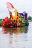 2009年浮动的花游行westland 图库摄影
