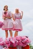 2009年浮动的花游行westland 免版税库存照片