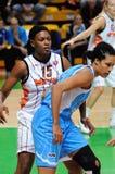 2009年篮球俄语妇女 免版税库存照片
