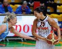 2009年篮球俄语妇女 免版税库存图片