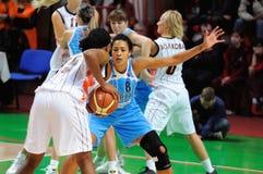 2009年篮球俄语妇女 库存图片