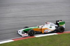 2009年艾德里安f1强制赛跑sutil的印度 库存图片
