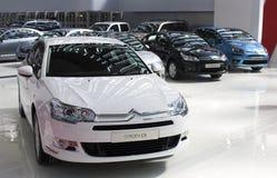2009年贝尔格莱德c5汽车公平的citroen 免版税库存图片