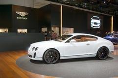 2009年超级bentley大陆日内瓦的汽车展示会 免版税库存照片