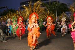2009年阿雷西费狂欢节lanzarote 库存图片