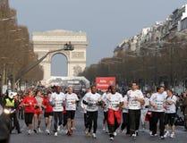 2009年马拉松巴黎 库存照片